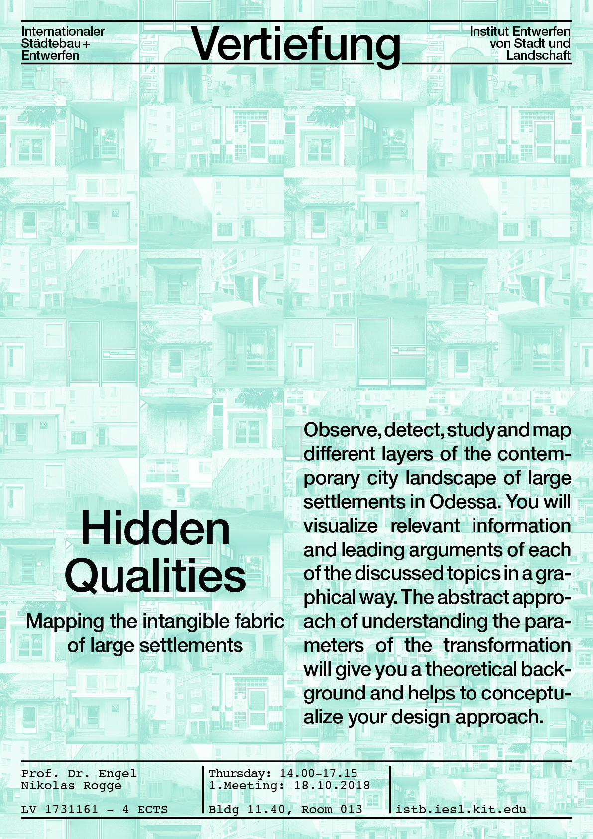 Vertiefung: Hidden Qualities - Mapping the intangible fabric of large settlements